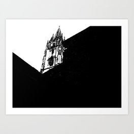 Oviedo Black and White Art Print