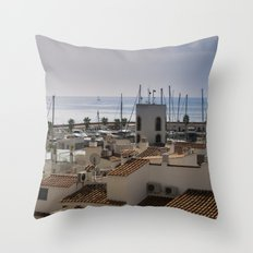 Port d'Aiguadolç Throw Pillow