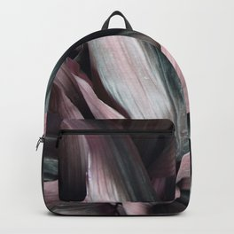Pink Plant Leaves Backpack