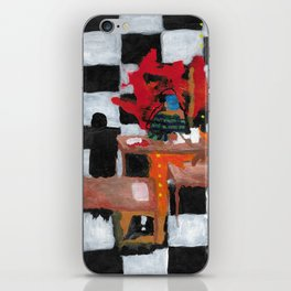 A mental health struggling teenager at the library iPhone Skin