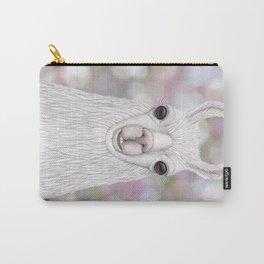 Llama farm animal portrait Carry-All Pouch