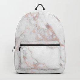 Rose Gold Marble Blush Pink Metallic Foil Backpack