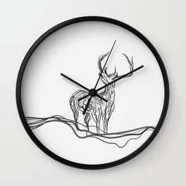 Mountain (Closer Than You Know) Lino Cut Wall Clock