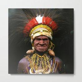 Papua New Guinea Chief's Headdress Metal Print
