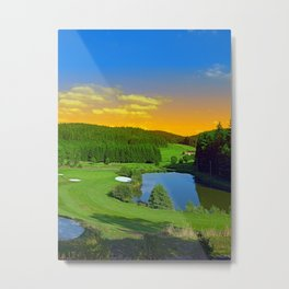 Summer sunset at the golf club | landscape photography Metal Print