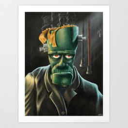 Frankenpaint Art Print