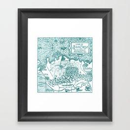 Map of Bohemia (blue) Framed Art Print