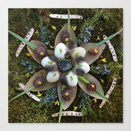 Nature Mandala: March Canvas Print