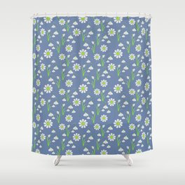 Snowdrop Galanthus vector seamless pattern Shower Curtain