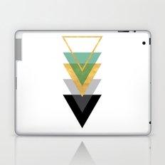 FIVE GEOMETRIC ABSTRACT HOLLOW PYRAMIDS TRIANGLE Laptop & iPad Skin