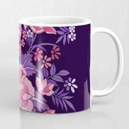 Mexican Flowers Purple Coffee Mug