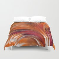 "maine Duvet Covers featuring ""Marie's Maine"" by Crystal Desharnais of Blessings Studio"