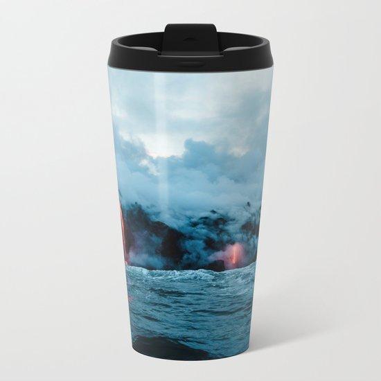 Vulcano ocean Metal Travel Mug