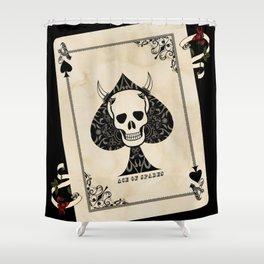 Ace Of Spades - Death Card Shower Curtain