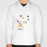 pocket fuel Hoodies featuring Fuel of  the day by inkdesigner