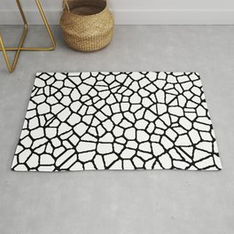 staklo (white with black) Rug