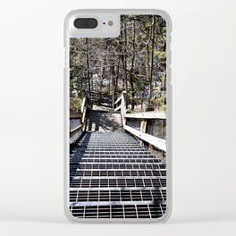 Tahquamenon Stairs Clear iPhone Case