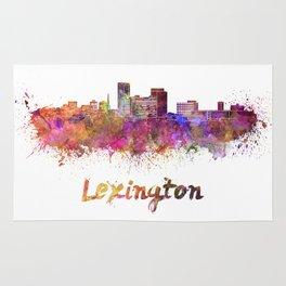 Lexington skyline in watercolor Rug