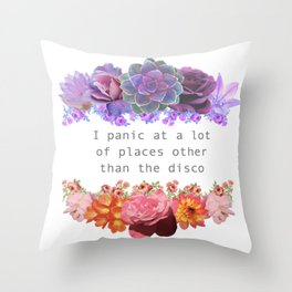 Panic! Throw Pillow