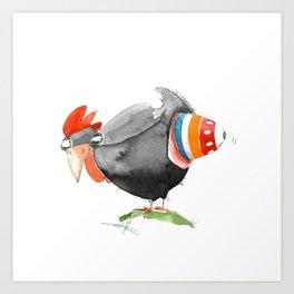 Hen and Egg Story Art Print