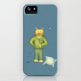 You are the cat's pajamas - blue iPhone Case