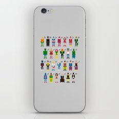Pixel Superhero Alphabet 2 iPhone & iPod Skin