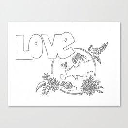 Love the earth Canvas Print