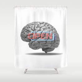 Open minded Shower Curtain