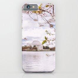 Washington DC Cherry Blossoms - Thomas Jefferson Memorial III iPhone Case