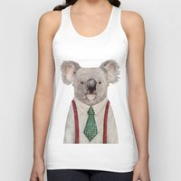 koala Tank Tops featuring Koala by Animal Crew
