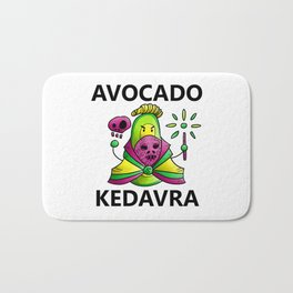 Avocado Kedavra - Death Eater Avocado with Wand Bath Mat