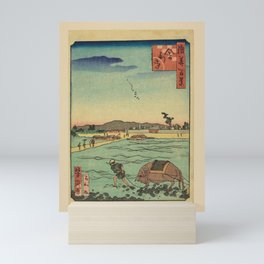 Ichiyôtei Yoshitaki - 100 Views of Naniwa: Shari-ji Temple (1860s) Mini Art Print