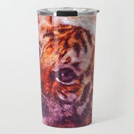 BABY TIGER CUB WATERCOLOR PAINTING Travel Mug