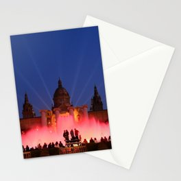 Magic Fountain of Montjuic 3 Stationery Cards