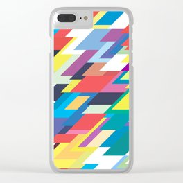 Layers Triangle Geometric Pattern Clear iPhone Case