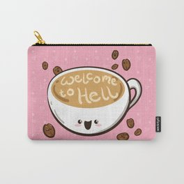 Sweet & Sinister: Pink Coffee Cup Carry-All Pouch