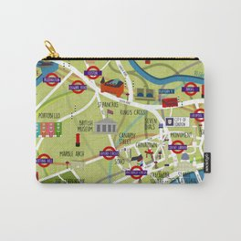 London map illustrated Carry-All Pouch