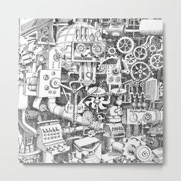 DINNER TIME FOR THE ROBOT Metal Print