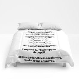 A Small Graphic Design Manifesto Comforters