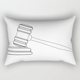 Judges Gravel Line Drawing Rectangular Pillow