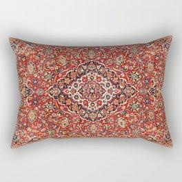 Kashan  Antique Central Persian Rug Print Rectangular Pillow