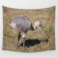 ostrich Wall Tapestries featuring Baby Ostrich by Sarah Shanely Photography