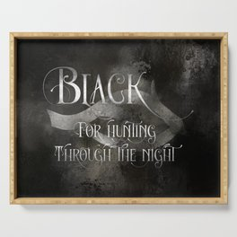 BLACK for hunting through the night. Shadowhunter Children's Rhyme. Serving Tray