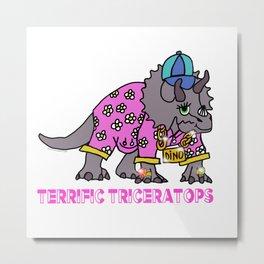 Terrific Triceratops Metal Print