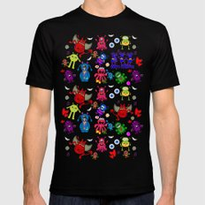 Monster Party Black MEDIUM Mens Fitted Tee