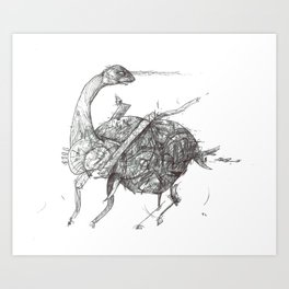 Bruntasaurus Art Print