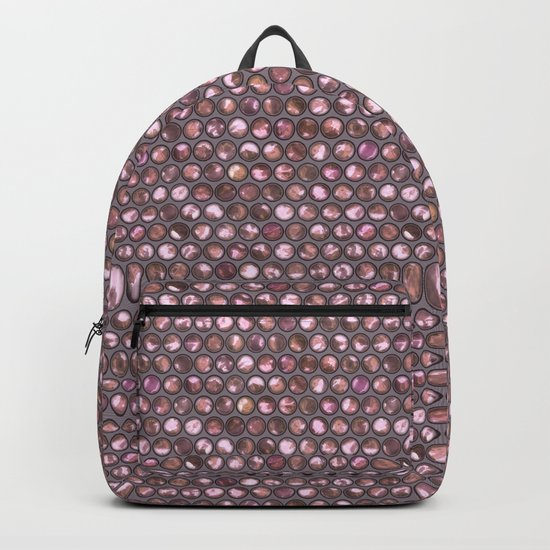 Pink Shiny Pearl Pattern Backpack