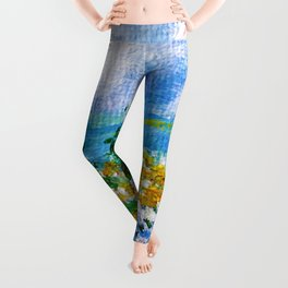 A Quiet Haven. Scenery. Nature Painting. Trees Leggings