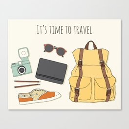 It's Time to Travel Canvas Print