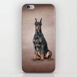 Drawing Doberman dog iPhone Skin